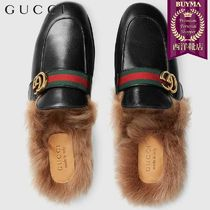 【正規品保証】GUCCI★18秋冬★PRINCETOWN LEATHER SLIPPER