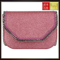 【ステラマッカートニー】Mini Falabella Glitter Crossbody