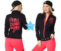 H30.7新作【ZUMBA】Zumba Power Zip-Up Cardigan(Black)Z1T01543
