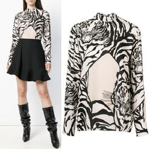 18-19AW V1213 RE-EDITION TIGER SILK GEORGETTE BLOUSE