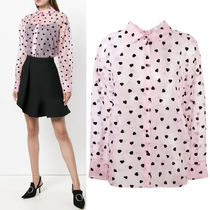 "18-19AW V1214 ""PRETTY HEART"" SIK BLOUSE"