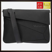 【ロエベ】Puzzle Leather Messenger Bag Black