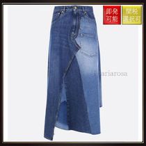 【ロエベ】Patchwork Denim Skirt Blue