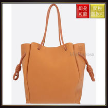 【ロエベ】Flamenco Knot Leather Tote Light Caramel
