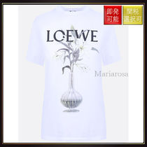【ロエベ】Flower &Amp; Vase Cotton T Shirt White With Multi
