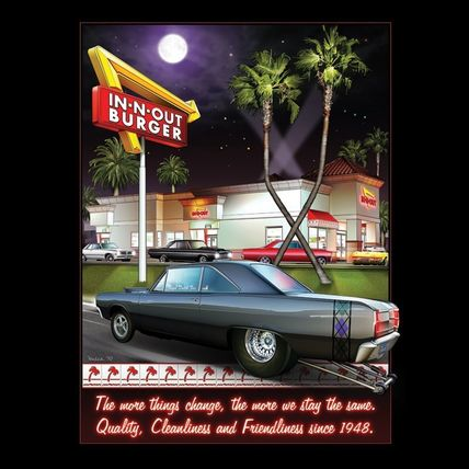 IN-N-OUT Tシャツ・カットソー 【日本未発売】In-N-OutインアンドアウトPrint SS T-Shirts(3)