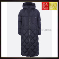 【プラダ】Long Down Jacket In Quilted Nylon Black