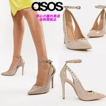 ASOS DESIGN Persuade studded pointed high heels♪