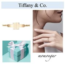 [Tiffany & Co.]新作☆Tiffany T Two Chain Ring☆18k gold