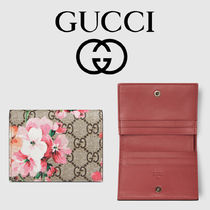 【GUCCI】GG Blooms ☆ ピンクフラワー プリント カードケース