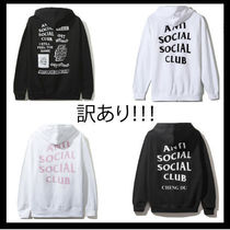 【訳あり】Anti Social Social Club/ Zip ロゴHoodie【送関込】