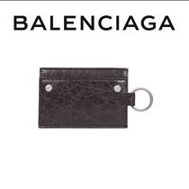 VIP価格【BALENCIAGA】Textured lambskin card holder 関税込