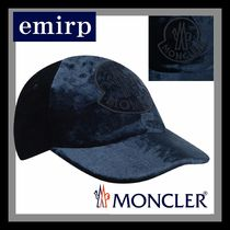 18-19AW☆MONCLER★大人もOK♪ロゴワッペン付ベルベットキャップ