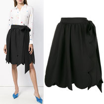 18-19AW V1219 CREPE COUTURE SKIRT WITH RIBBON BELT