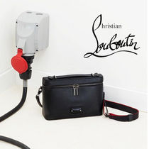 "Christian Louboutin ""Kypipoucht"" ブラックレザー バッグ"