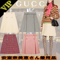 ◆◆VIP◆◆GUCCI  安室奈美恵さん着用品  A-Line Tweedスカート