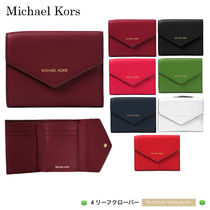 新作!★Michael Kors★Jet Set Small Leather Envelope Wallet