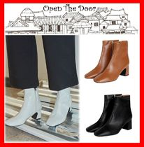 2018SS☆人気【OPEN THE DOOR】 Leather Ankle Boots☆3色☆
