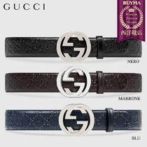 【正規品保証】GUCCI★18秋冬★GUCCI SIGNATURE LEATHER BELT