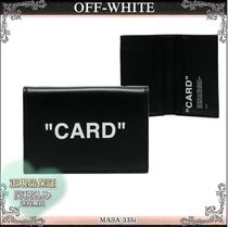 19AW☆送料&関税込【OFF-WHITE】 CARDプリント カードケース