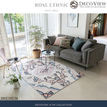 DECO VIEW(デコヴュー)★ROSE ETHNIC SOFT RUG -200 X 100