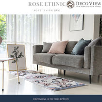 DECO VIEW(デコヴュー)★ROSE ETHNIC SOFT LIVING RUG - 70X200