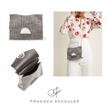 【Proenza Schouler】Curl small tweed and leather clutch