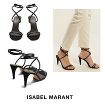 【Isabel Marant】Abigua tie-ankle leather sandals 9133
