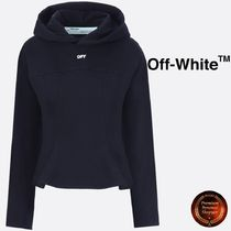 ★OFF-WHITE★OFFプリントcottonクロップドパーカー 関税送料込