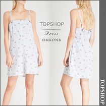 【国内発送・関税込】TOPSHOP★Floral-print cotton-blend dress