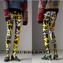 BURBERRY*2018-19AW*グラフィティプリント レギンス イエロー