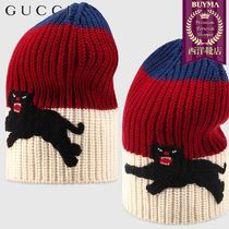 【正規品保証】GUCCI★18秋冬★WEB WOOL HAT WITH PANTHER