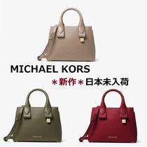 ◆MK◆Rollins Small Pebbled Leather Satchel