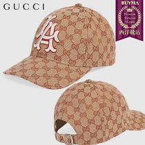 【正規品保証】GUCCI★18秋冬★BASEBALL HAT W/LA ANGELS PATCH