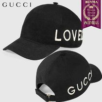 【正規品保証】GUCCI★18秋冬★EMBROIDERED CANVAS BASEBALL HAT