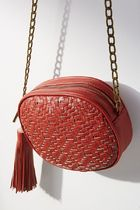 【Anthropologie】大人気新作!Woven Ovalショルダー・Red