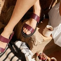 ★&Other Stories★Diagonal Strap Leather Sandals★レッド★