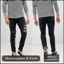 Abercrombie & Fitch★関送込スキニーダメージデニム(黒)