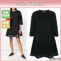 19AW★送料込【Moncler】Aライン ジャージーナイロンドレス