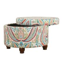 10%OFF HomePop Storage Ottoman-Bold Paisley 送料無料 関税込
