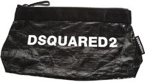 DSQUARED2●AW18/19BLACK コスメ バッグ / WHITE DSQUARED2 ロゴ