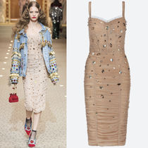 18-19AW DG1732 LOOK8 RUCHED TULLE DRESS