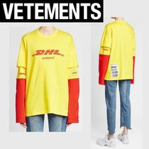 SALE!【VETEMENTS】DHLプリントロングTシャツ