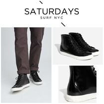 【SATURDAYS NYC】☆新作☆ Mike High Abrasivato Sneaker Black