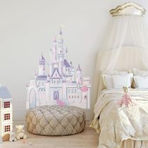 Disney Princess Glitter Castle Peel & Stick Giant Wall Decal