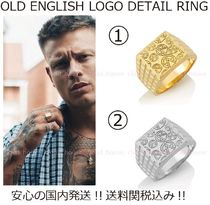 送料関税込【Chained&Able】OLD ENGLISH LOGO DETAILリング(2色)