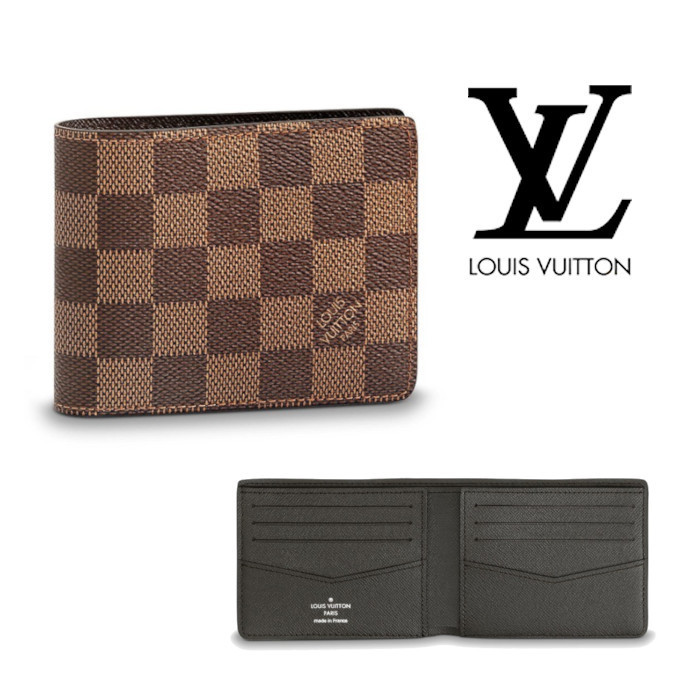 4ed925162c6d Louis Vuitton Folding Wallets Other Check Patterns Leather Folding Wallets