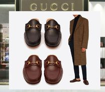 18AW GUCCI ☆レザーバックレスローファー 2色