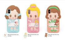 afrocat(アフロキャット) スマホケース・テックアクセサリー 【afrocat】Paper doll mate silicon case / iPhone X