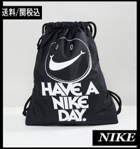 【Nike】Archive 「HAVE A NIKE DAY.」巾着バッグ ブラック ♪
